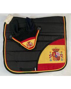 Zadeldek Spanje zwart